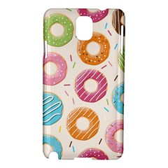 Colored Doughnuts Pattern Samsung Galaxy Note 3 N9005 Hardshell Case