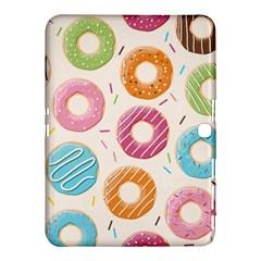 Colored Doughnuts Pattern Samsung Galaxy Tab 4 (10 1 ) Hardshell Case