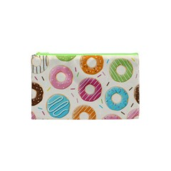 Colored Doughnuts Pattern Cosmetic Bag (xs)
