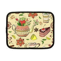 Colored Afternoon Tea Pattern Netbook Case (small)