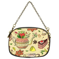 Colored Afternoon Tea Pattern Chain Purses (two Sides)