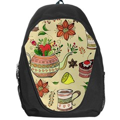 Colored Afternoon Tea Pattern Backpack Bag