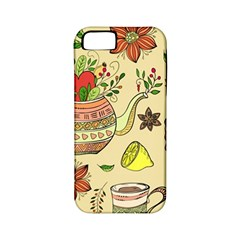 Colored Afternoon Tea Pattern Apple Iphone 5 Classic Hardshell Case (pc+silicone)