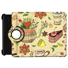 Colored Afternoon Tea Pattern Kindle Fire Hd 7