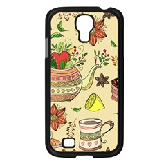 Colored Afternoon Tea Pattern Samsung Galaxy S4 I9500/ I9505 Case (black)