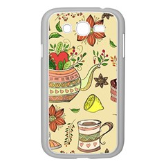 Colored Afternoon Tea Pattern Samsung Galaxy Grand Duos I9082 Case (white)