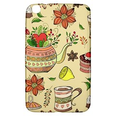 Colored Afternoon Tea Pattern Samsung Galaxy Tab 3 (8 ) T3100 Hardshell Case