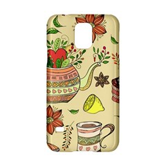 Colored Afternoon Tea Pattern Samsung Galaxy S5 Hardshell Case