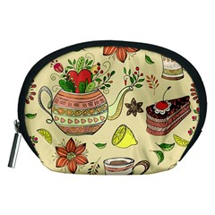Colored Afternoon Tea Pattern Accessory Pouches (medium)