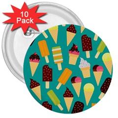Summer Treats 3  Buttons (10 Pack)