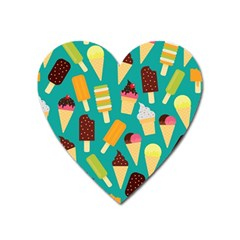 Summer Treats Heart Magnet
