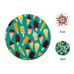 Summer Treats Playing Cards (round)