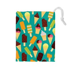 Summer Treats Drawstring Pouches (large)