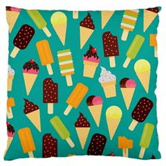 Summer Treats Large Flano Cushion Case (two Sides)