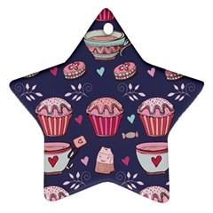 Afternoon Tea And Sweets Ornament (star)