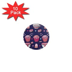 Afternoon Tea And Sweets 1  Mini Magnet (10 Pack)