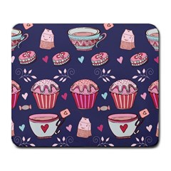 Afternoon Tea And Sweets Large Mousepads