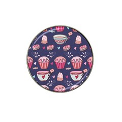 Afternoon Tea And Sweets Hat Clip Ball Marker (10 Pack)