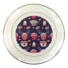 Afternoon Tea And Sweets Porcelain Plates