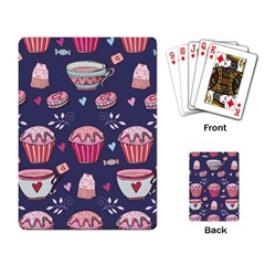 Afternoon Tea And Sweets Playing Card