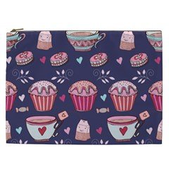 Afternoon Tea And Sweets Cosmetic Bag (xxl)