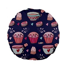 Afternoon Tea And Sweets Standard 15  Premium Round Cushions