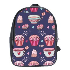 Afternoon Tea And Sweets School Bag (xl)