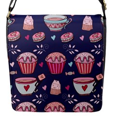 Afternoon Tea And Sweets Flap Messenger Bag (s)