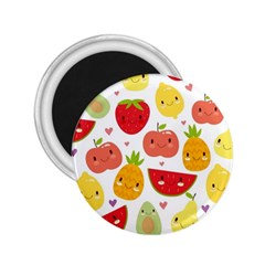 Happy Fruits Pattern 2 25  Magnets