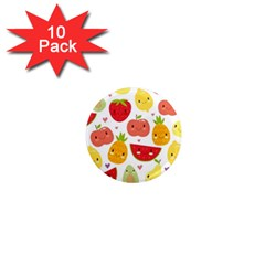Happy Fruits Pattern 1  Mini Magnet (10 Pack)
