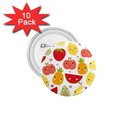 Happy Fruits Pattern 1 75  Buttons (10 Pack)
