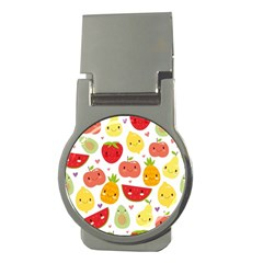 Happy Fruits Pattern Money Clips (round)