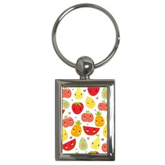 Happy Fruits Pattern Key Chains (rectangle)