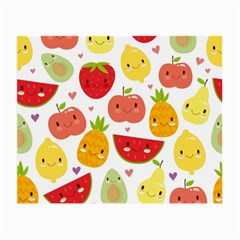 Happy Fruits Pattern Small Glasses Cloth