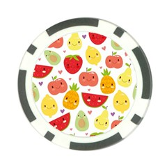 Happy Fruits Pattern Poker Chip Card Guard