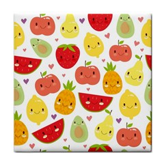Happy Fruits Pattern Face Towel