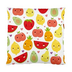 Happy Fruits Pattern Standard Cushion Case (one Side)