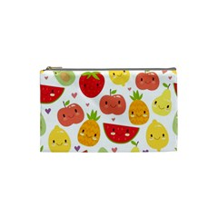 Happy Fruits Pattern Cosmetic Bag (small)