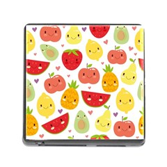 Happy Fruits Pattern Memory Card Reader (square)