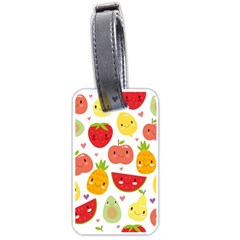 Happy Fruits Pattern Luggage Tags (two Sides)