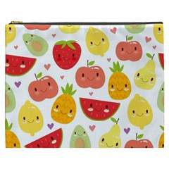 Happy Fruits Pattern Cosmetic Bag (xxxl)