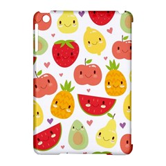 Happy Fruits Pattern Apple Ipad Mini Hardshell Case (compatible With Smart Cover)