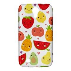 Happy Fruits Pattern Samsung Galaxy Mega 6 3  I9200 Hardshell Case