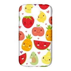 Happy Fruits Pattern Samsung Galaxy S4 Classic Hardshell Case (pc+silicone)