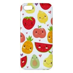 Happy Fruits Pattern Iphone 5s/ Se Premium Hardshell Case