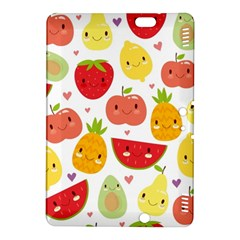 Happy Fruits Pattern Kindle Fire Hdx 8 9  Hardshell Case