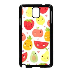 Happy Fruits Pattern Samsung Galaxy Note 3 Neo Hardshell Case (black)
