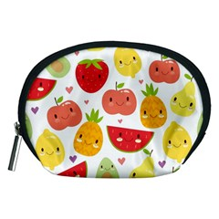 Happy Fruits Pattern Accessory Pouches (medium)
