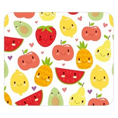 Happy Fruits Pattern Double Sided Flano Blanket (small)