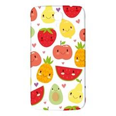 Happy Fruits Pattern Samsung Galaxy Mega I9200 Hardshell Back Case